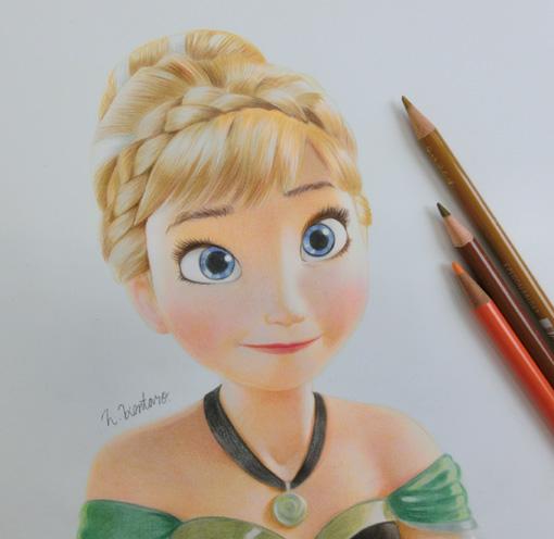 色鉛筆画アナと雪の女王roddys Diaryso Netブログ