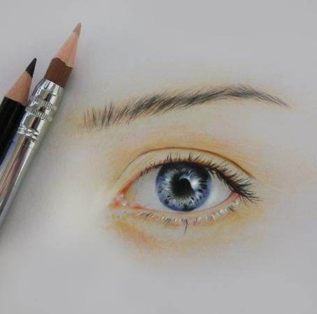 色鉛筆画目の練習roddys Diaryso Netブログ